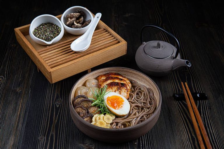 Chicken ramen with soba noodles, 1