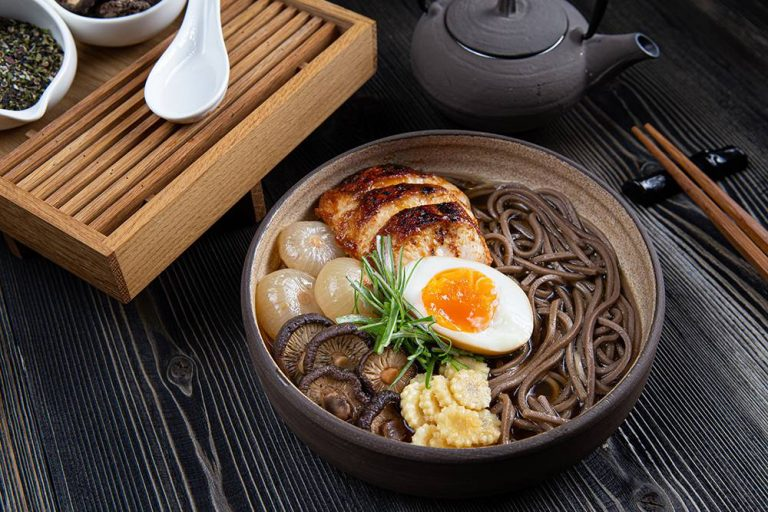 Chicken ramen with soba noodles, 2