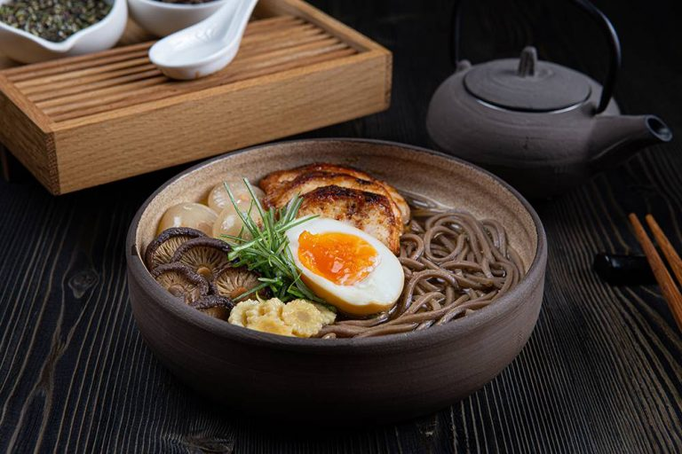 Chicken ramen with soba noodles, 3