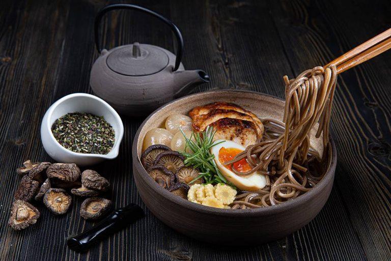 Chicken ramen with soba noodles, 4q