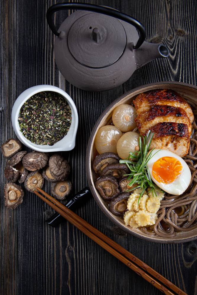 Chicken ramen with soba noodles, 6