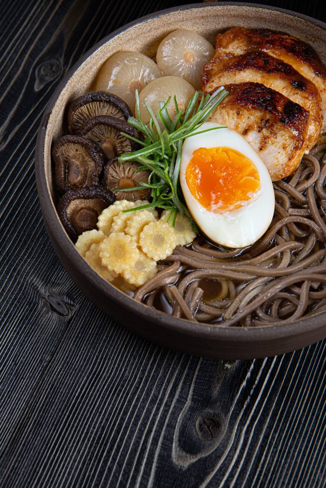 Chicken ramen with soba noodles, 7