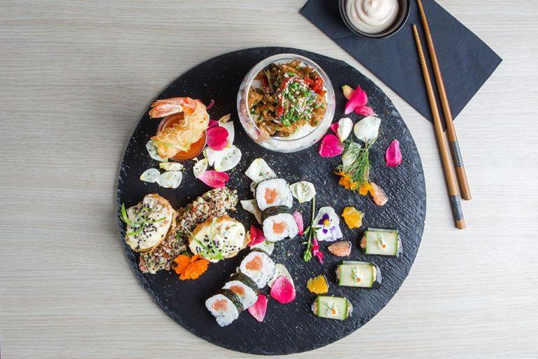 Japanese pallet of flavors, Saki sushi bar,1