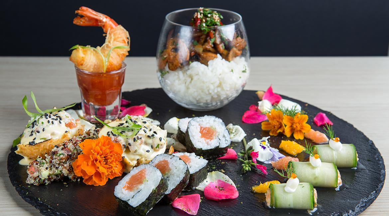 Japanese pallet of flavors, Saki sushi bar, feature