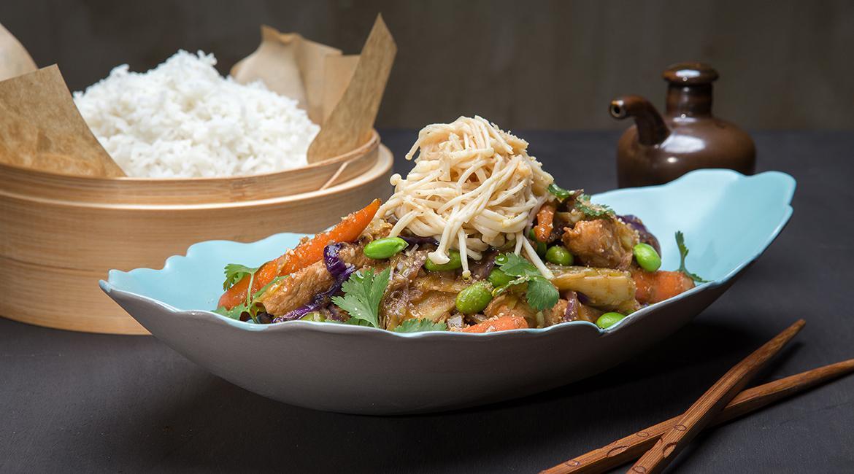 """Κοτόπουλο """"Bali"""" Stir-Fry με λαχανικά, feature"""
