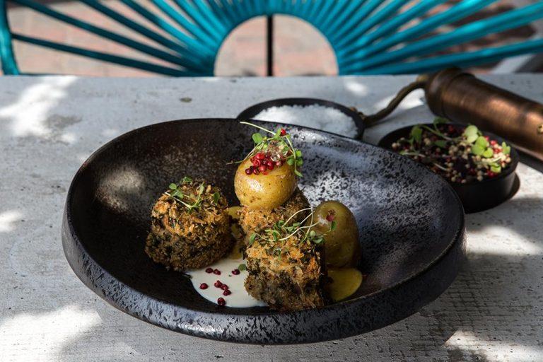 Ψαρονέφρι με κρέμα κολοκύθας & καπνιστή κρέμα τυριών, Kώστας Γιαννόπουλος, Gust, 1