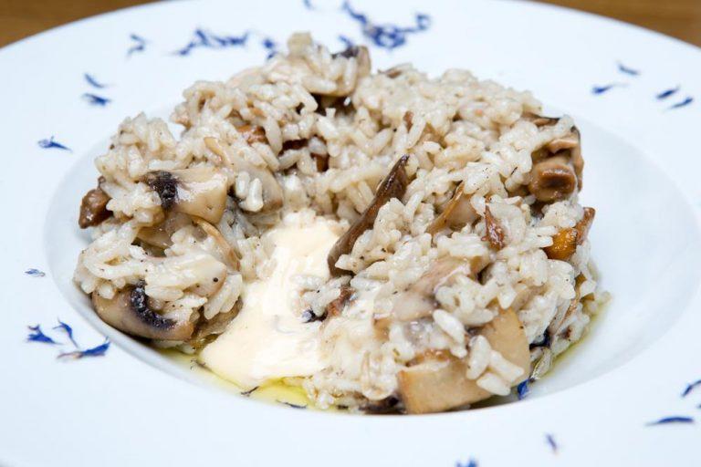 Ριζότο με άγρια μανιτάρια και φοντί παρμεζάνας, Μαστίχα, 3