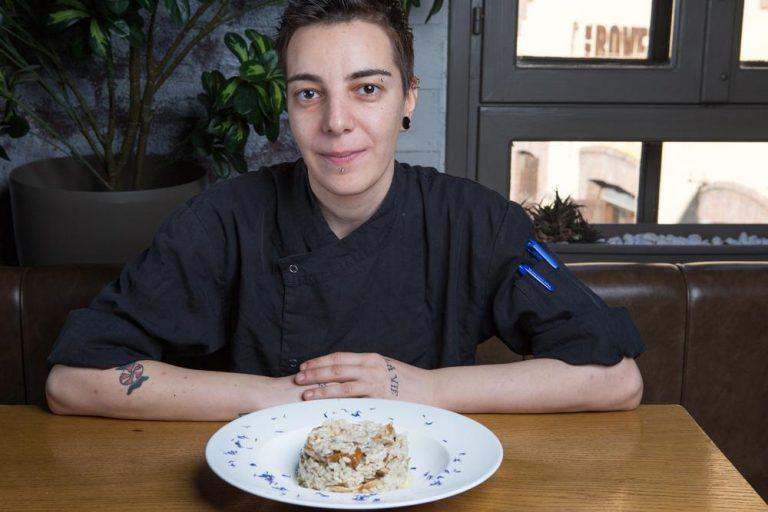 Ριζότο με άγρια μανιτάρια και φοντί παρμεζάνας, Μαστίχα, 5