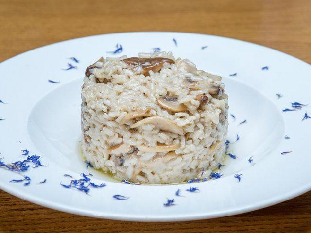 Ριζότο με άγρια μανιτάρια και φοντί παρμεζάνας, Μαστίχα, feature
