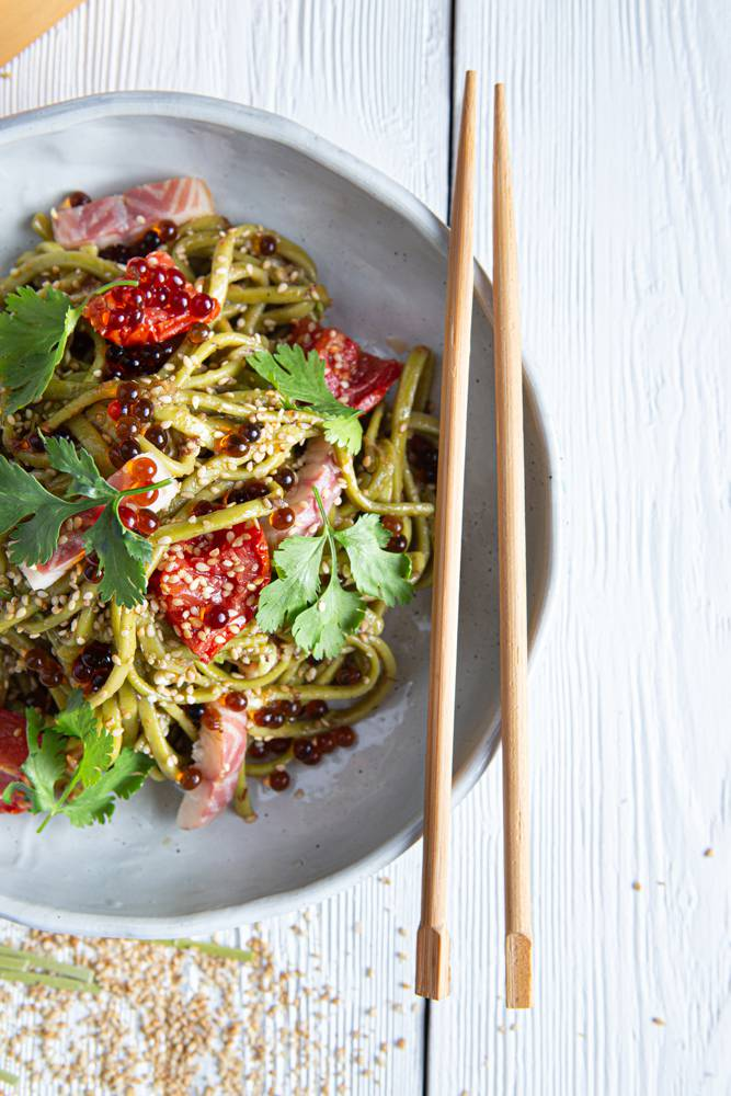 Salad bowl με noodles άλγης & καπνιστό χέλι, 5