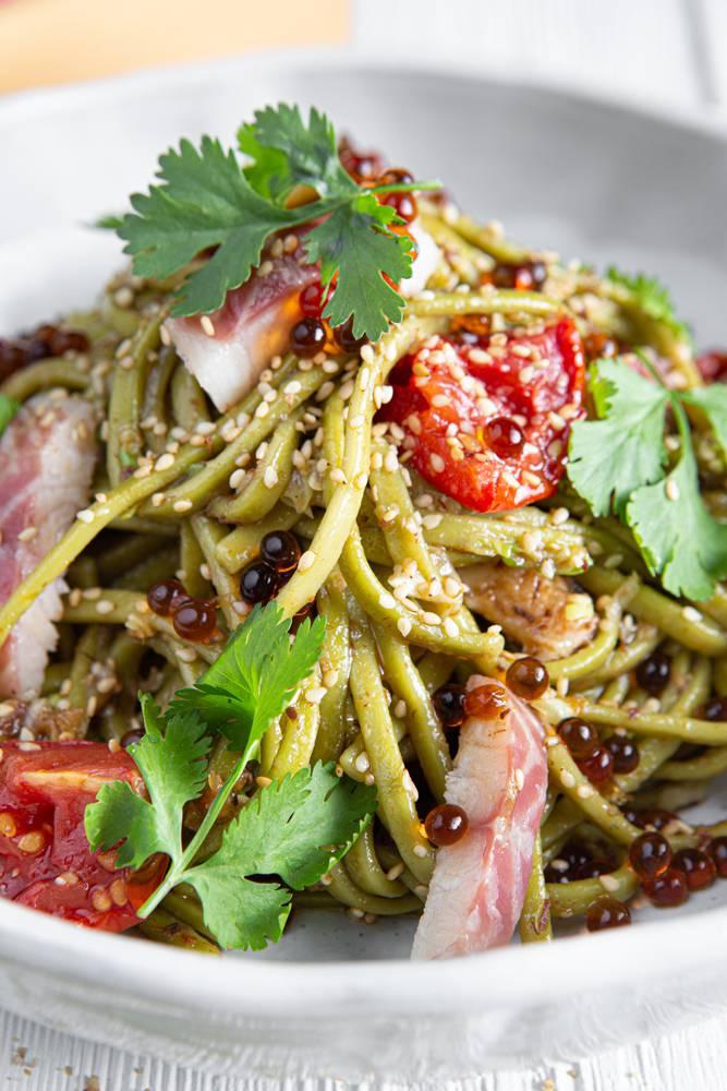 Salad bowl με noodles άλγης & καπνιστό χέλι, 7