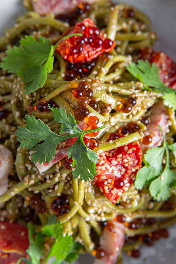 Salad bowl με noodles άλγης & καπνιστό χέλι, 8
