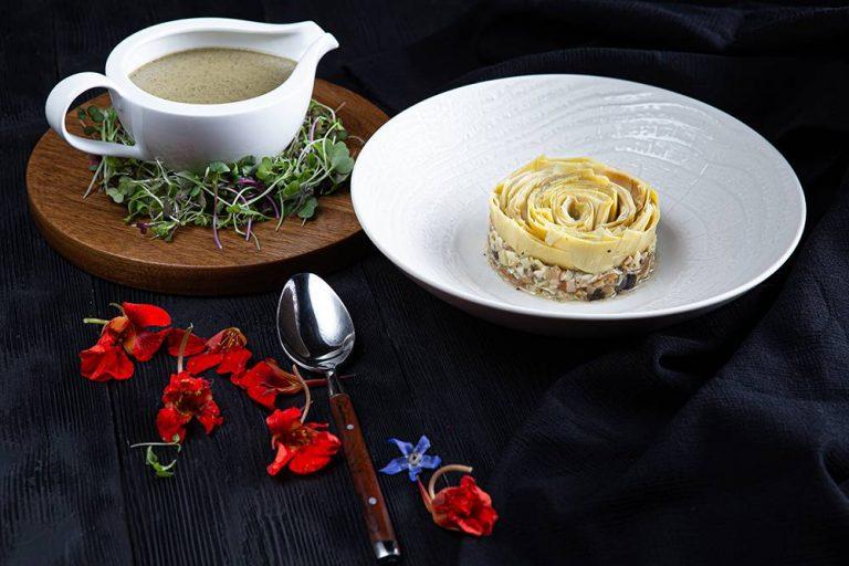 Vegan μαγειρίτσα με κρέμα τόφου, 1