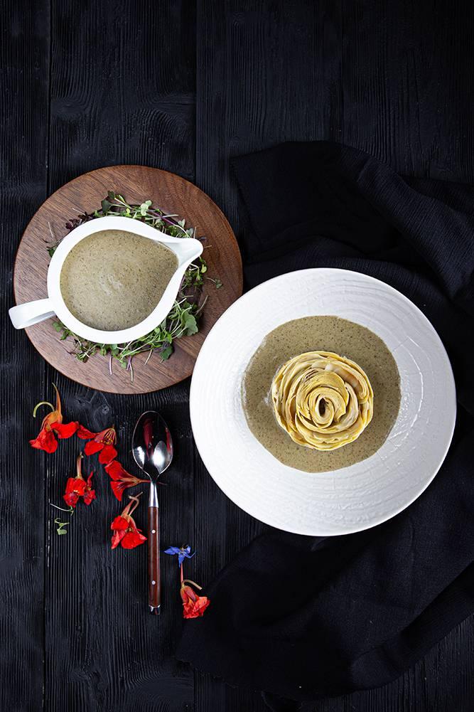 Vegan μαγειρίτσα με κρέμα τόφου, 5