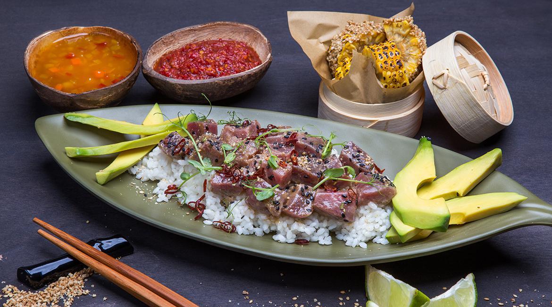 Χαβανέζικο sushi με τόνο, feature