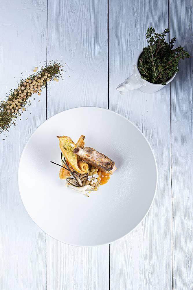Χοιρινό iberico με fregola και σάλτσα orange & mint, Διονύσης Κιουρτζίδης, Ρινόκερος , 4