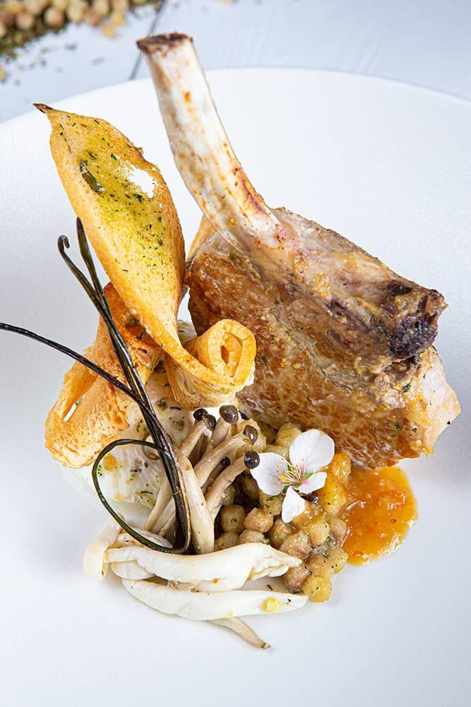 Χοιρινό iberico με fregola και σάλτσα orange & mint, Διονύσης Κιουρτζίδης, Ρινόκερος , 5