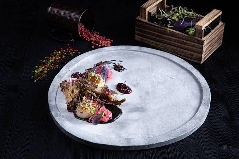 Χτένια με κρέμα αγκινάρας, bacon θαλάσσης & σμέουρα, Άγγελος Ρημάδης, Mangiare gastro bar, 1