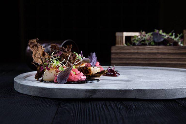 Χτένια με κρέμα αγκινάρας, bacon θαλάσσης & σμέουρα, Άγγελος Ρημάδης, Mangiare gastro bar, 2