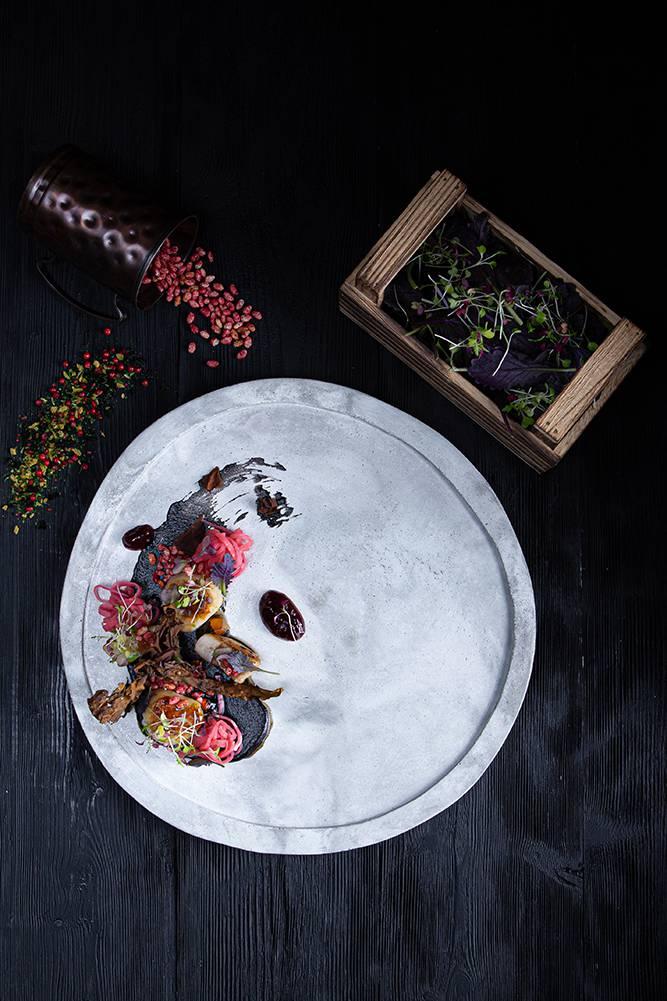 Χτένια με κρέμα αγκινάρας, bacon θαλάσσης & σμέουρα, Άγγελος Ρημάδης, Mangiare gastro bar, 5