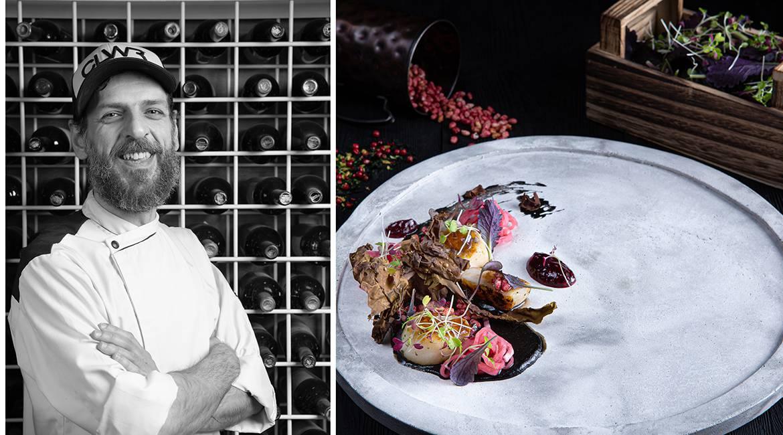 Χτένια με κρέμα αγκινάρας, bacon θαλάσσης & σμέουρα, Άγγελος Ρημάδης, Mangiare gastro bar, feature